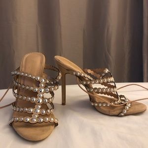 NEW Bai Beiai Lace Up Heels